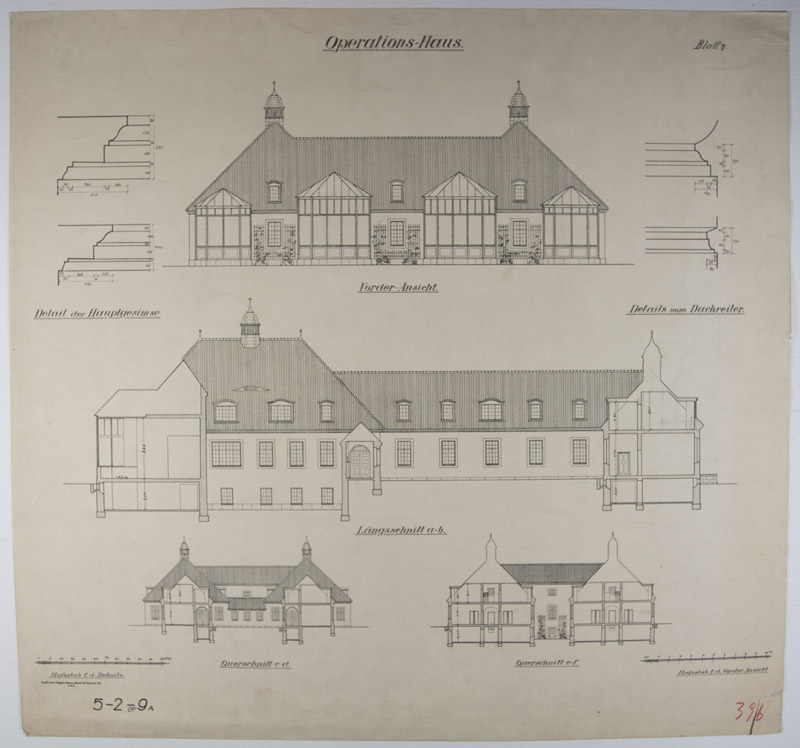 Collection of 10 printed architectural plans drawings by for Printing architectural drawings