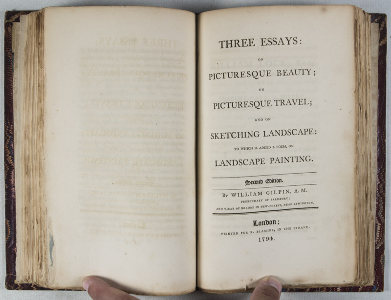 three essays on picturesque Gilpin, william, 1724-1804: an essay on prints / (london : printed by g scott, for  r  gilpin, william, 1724-1804: three essays : on picturesque beauty on.