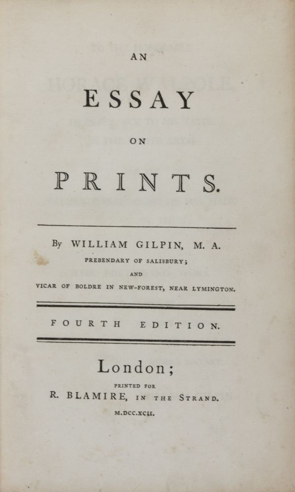 william gilpin essay on picturesque beauty Gilpin three essays on picturesque beauty college paper writing bressay heavy oil project.