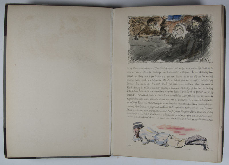 Lithographisches Skizzenbuch 1916 lithographic sketch book 1/30 copies by  Robert Genin on Eric Chaim Kline, Bookseller