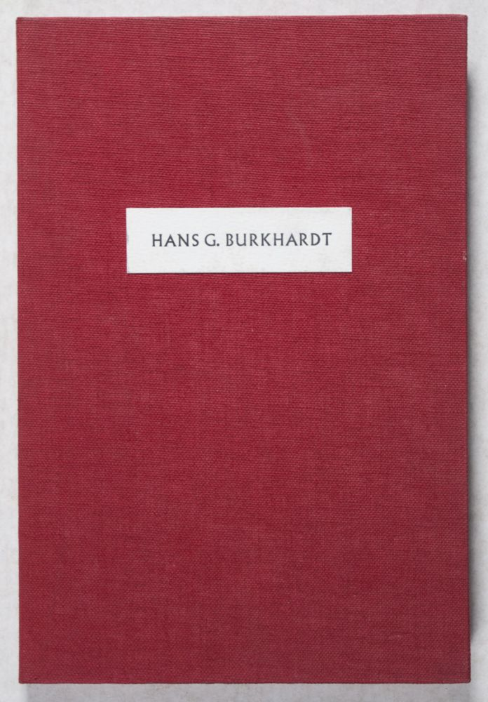 Hans G. Burkhardt: Artist and Patron of the Arts [SIGNED]. William M. Kramer.