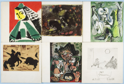 6 Picasso Exhibition catalogues. Galerie Louise Leiris. n/a.