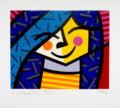Romero Britto [SIGNED]. Aaron Young, Joel Taffet.