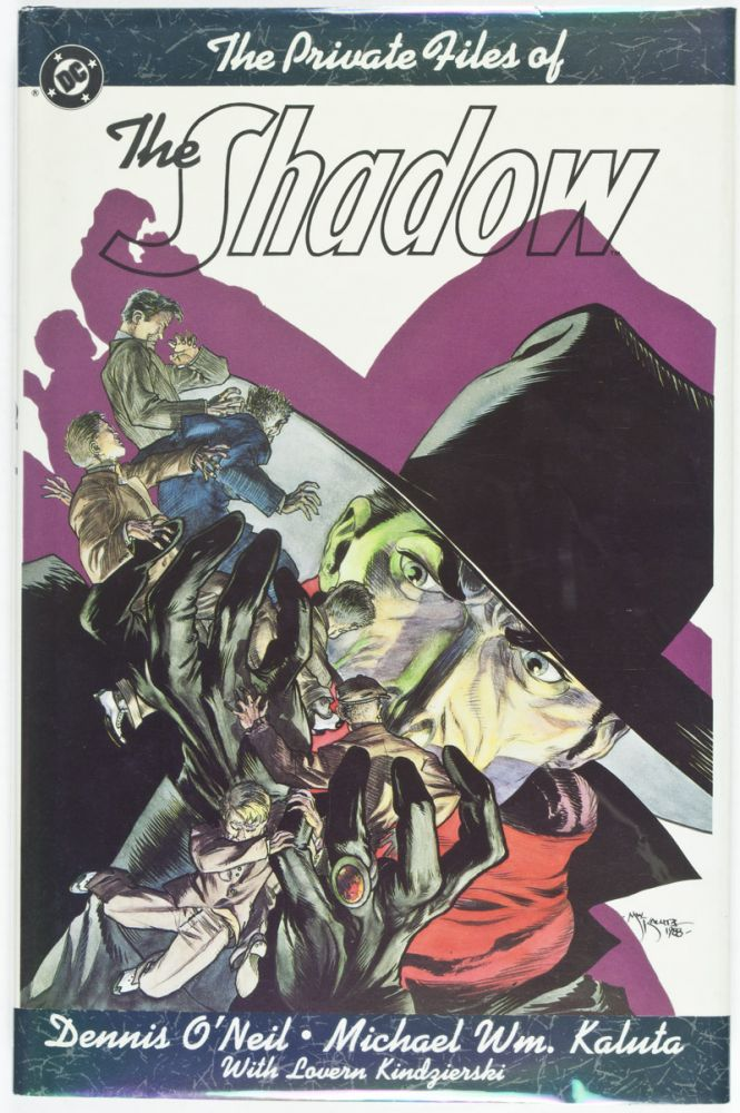 The Private Files of the Shadow [SIGNED, WITH ORIGINAL DRAWING BY ILLUSTRATOR]. Dennis O'Neil, Michael Wm. Kaluta, Text.