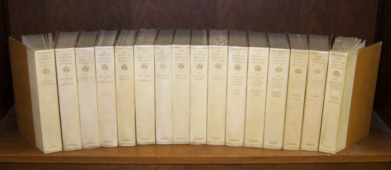 The Works of Donald G. Mitchell [SIGNED BY MITCHELL]. 16-vol. set (Complete). Donald G. Mitchell, Grant.