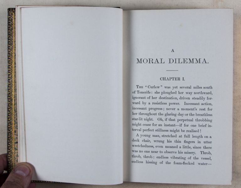A Moral Dilemma [Inscribed and signed by the author to Alexander Pollock Watt*]. Annie Thompson.