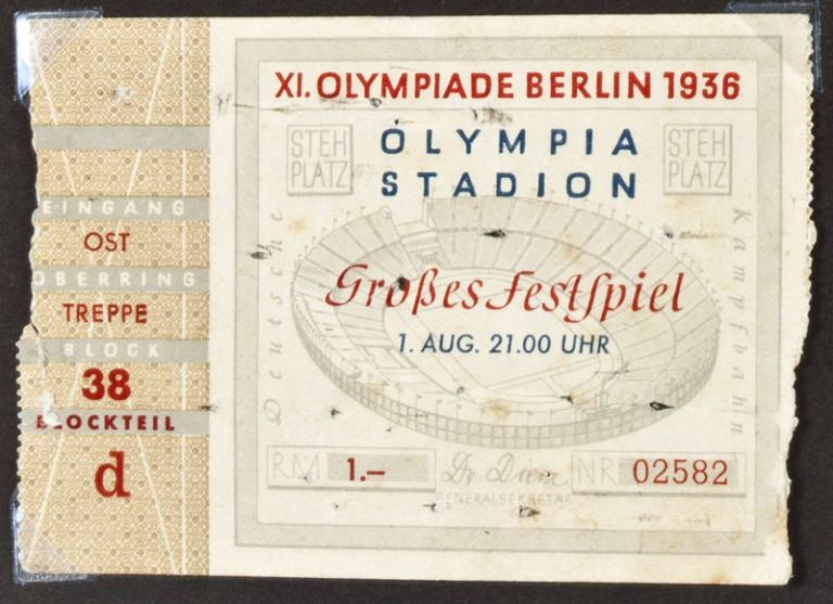 Unique photo album of the Berlin Olympic Games of 1936. n/a.