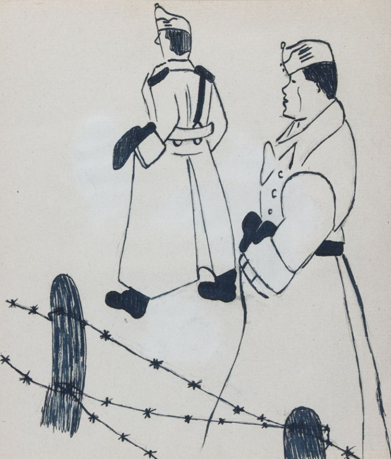 Illustrated Poetic Diary of a Jewish Hungarian forced to Labor Service during WWII. Géza Winter.