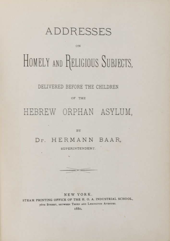 Addresses on Homely and Religious Subjects. 2-vol. set (Complete). Dr. Hermann Baar.