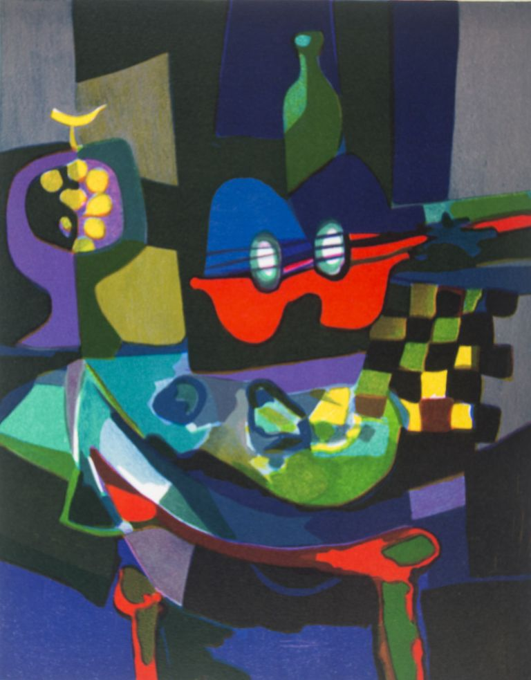 Marcel Mouly with Commemorative Suite of Four Color Lithographs [SIGNED]. Marcel Mouly.