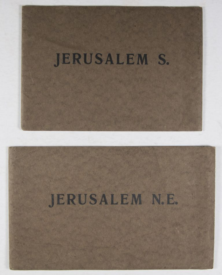 Jerusalem N. E., Jerusalem S., and Jerusalem (x2) [FOUR FOLD-OUT PANORAMIC VIEWS OF JERUSALEM IN PHOTOGRAVURE]. n/a.
