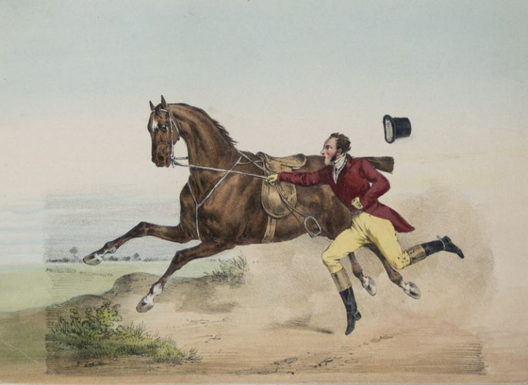 Sporting Notions [WITH 18 ORIGINAL HAND-COLORED AQUATINTS]. Henry Thomas Alken.