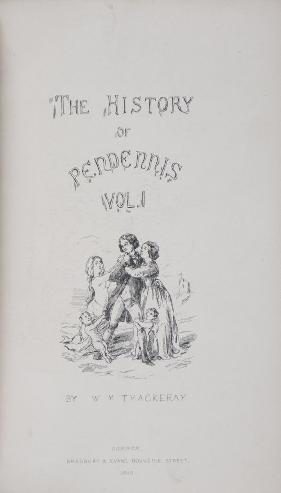 The History of Pendennis: His Fortunes and Misfortunes, His Friends and His Greatest Enemy. 2-vol. set (Complete). William Makepeace Thackeray, Text and.