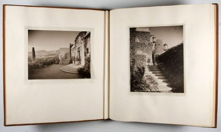 "Commemorative Architectural Photography Albums of the Clarence A. Black Estate ""El Cerrito"" on the ""Santa Barbara Riviera"" [UNIQUE STUDY WITH ALL IMAGES SIGNED] with photograph of Fred R. Dapprich by Milton M. Inman. Fred R. Dapprich, Jessie Tarbox Beals, Milton M. Inman."
