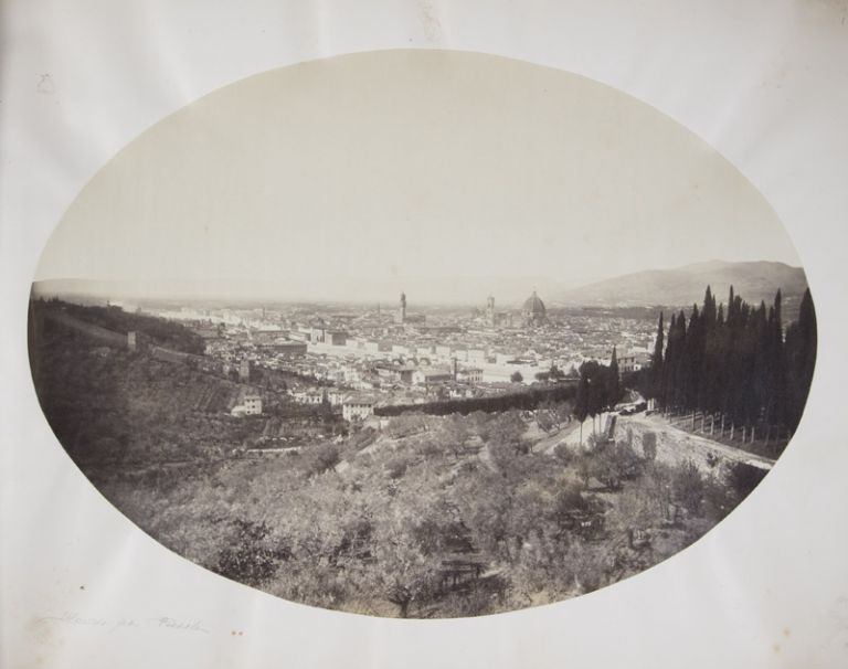 Florence [19TH-CENTURY PHOTO-ALBUM WITH 90 ALBUMEN PRINTS FROM THE FRATELLI ALINARI]. Leopoldo Alinari, and Romualdo, Giuseppe.