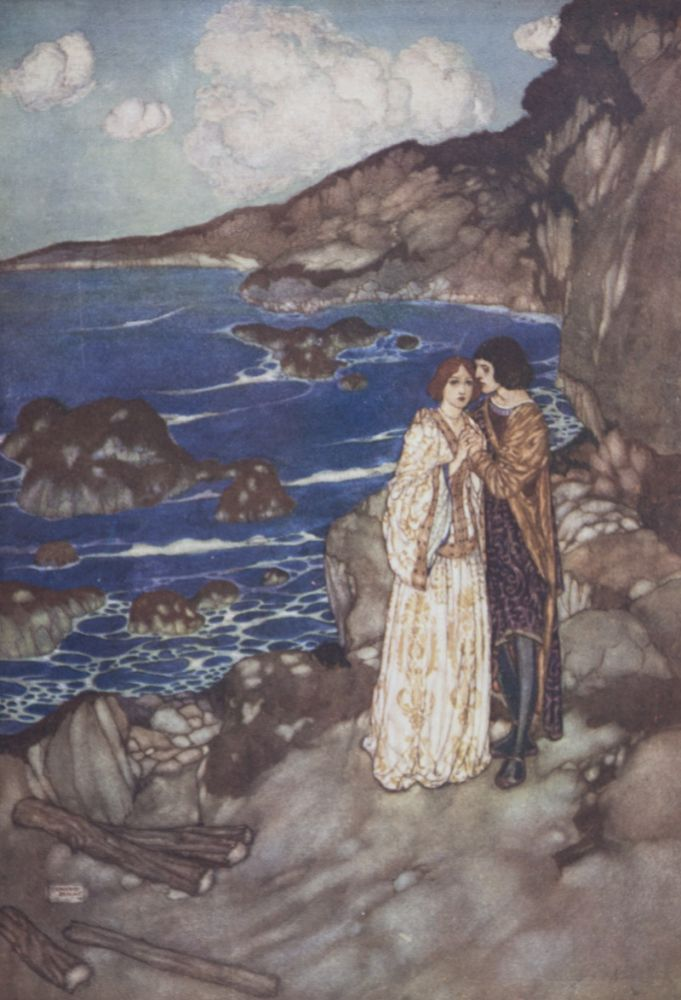 Shakespeare's Comedy of the Tempest [WITH ITS ORIGINAL DUST-JACKET]. William Shakespeare, Edmund Dulac, Text.