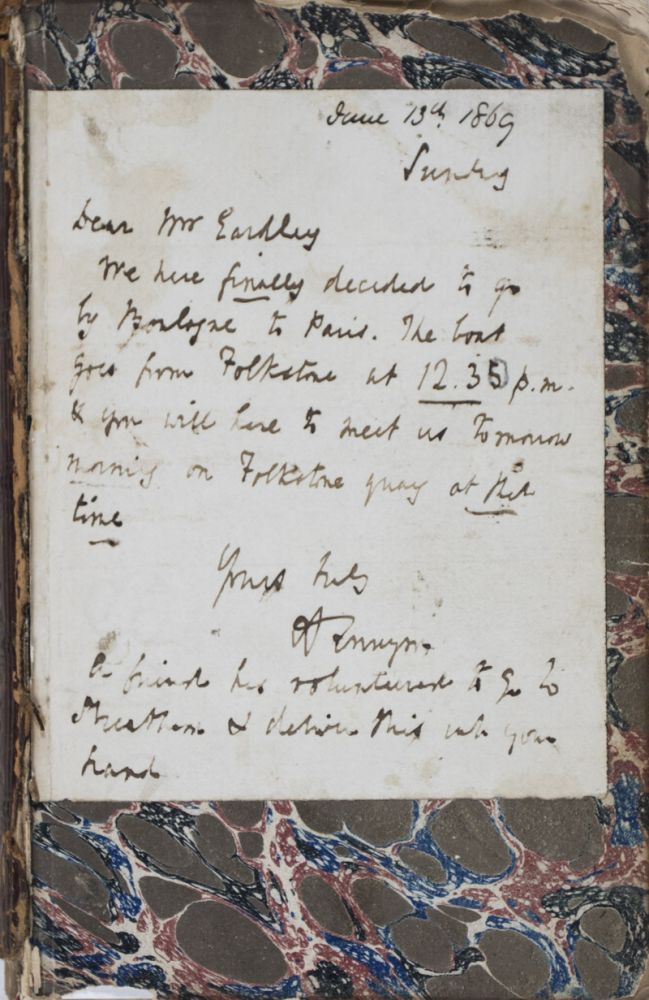 Poems [WITH A SIGNED LETTER FROM THE AUTHOR]. Alfred Lord Tennyson.