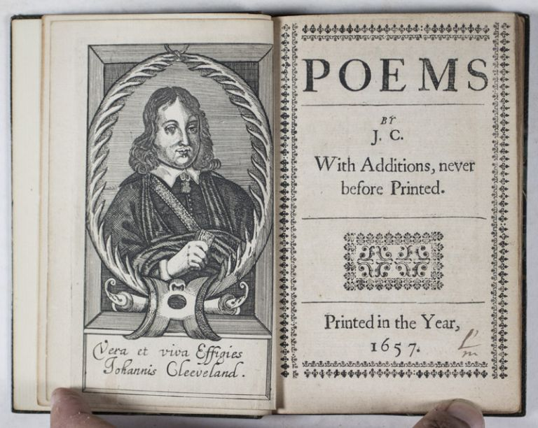 Poems by J. C. With Additions, never before Printed [BOUND WITH] A Character of a Diurnal-Maker. John Cleveland.
