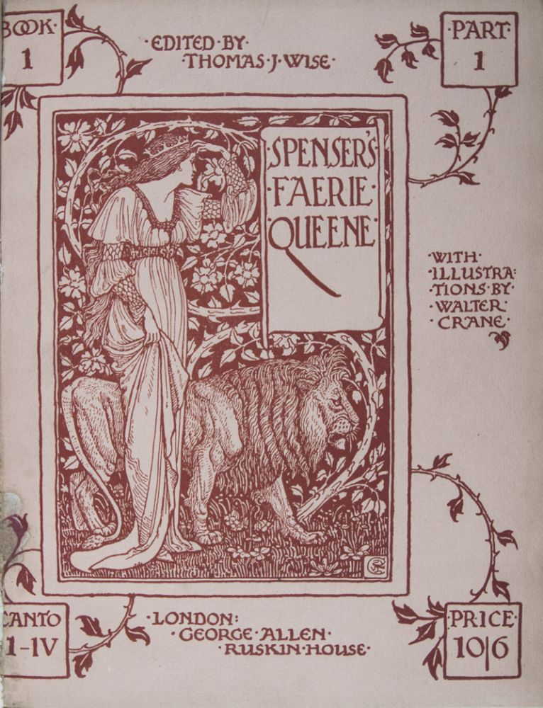 Spenser's Faerie Queene. 6-vol. set (Complete). Edmund Spenser, Walter Crane, Thomas J. Wise.
