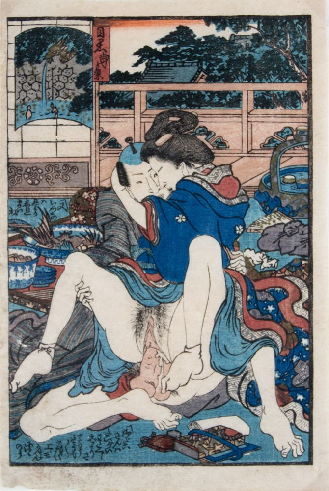 Two Shunga Woodblock Prints (Artist Unidentified). n/a.