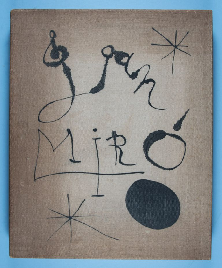 Constellations [SIGNED BY JOAN MIRÓ AND ANDRÉ BRETON] [COMPLETE WITH ITS ORIGINAL SIGNED LITHOGRAPH AND 22 POCHOIR PLATES]. Joan Miró, André Breton, Mourlot Frères.