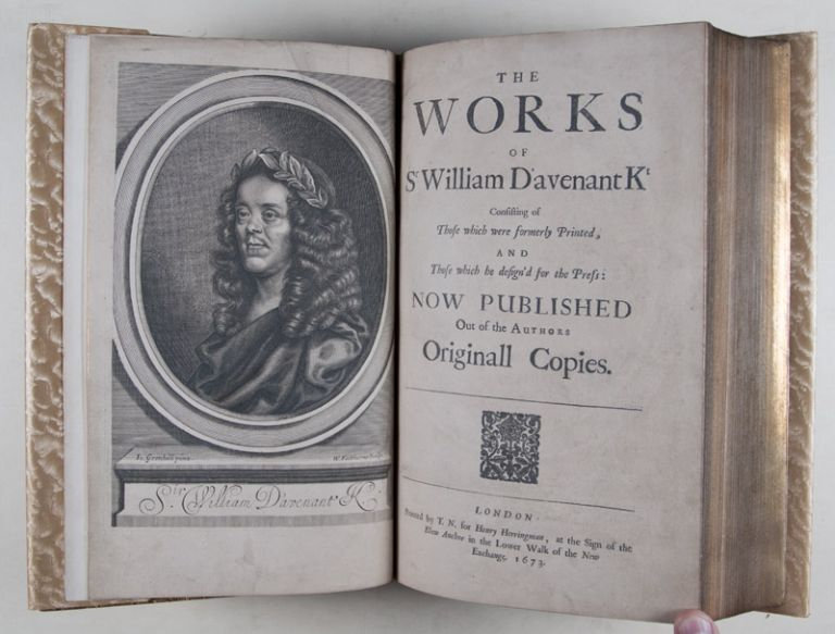 The Works of Sr William D'avenant Kt [SIGNED BY THE AUTHOR / EUGENE FIELD'S COPY]. William Davenant.