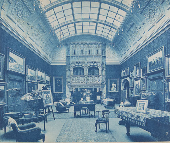 Intérieurs Anglais: a catalogue of 50 cyanotypes of British house interiors, 1880s–1890. Bedford Lemere, Co.