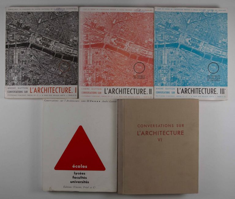 Conversations Sur L'Architecture. Vols. I, II, III A, III B, VI (Complete Volume 5 was never published). André Gutton.