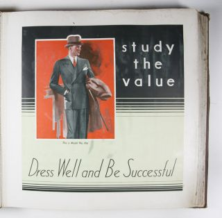 Fall and Winter 1931 Men's Catalogue: Study The Value, Dress Well And Be Successful. National Tailoring Company.