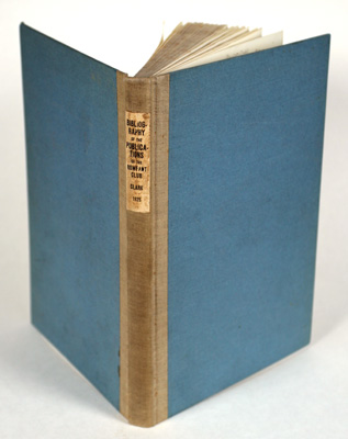 A Bibliography of the Publications of the Rowfant Club. Arthur Henry Clark