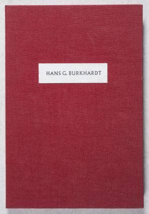Hans G. Burkhardt: Artist and Patron of the Arts [SIGNED]. William M. Kramer