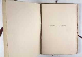 Poèmes Fantasques [SIGNED BY PUBLISHER]