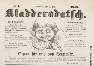 Kladderadatsch: Organ fur und von den Bummler [Complete first year of the magazine and additional Extrablatt]. 33 issues. n/a.