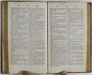 Manual Hebrew and English Lexicon . Including the Biblical Chaldee. Designed Particularly for Beginners.