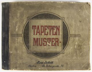 Tapetenmuster 58 [WITH 406 ART NOUVEAU WALLPAPER SAMPLES]. Paul Schoth.