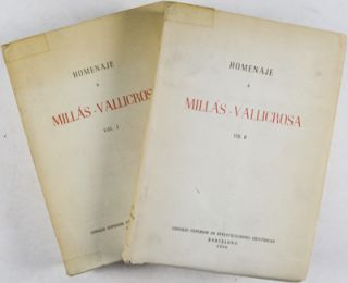 Homenaje a Millás-Vallicrosa (Complete in 2 Volumes). n/a.