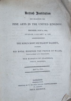 British Institution for Promoting the Fine Arts in the United Kingdom. n/a
