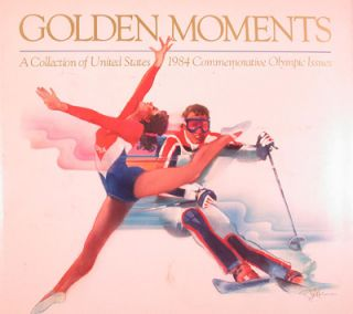 Golden Moments: A Collection of United States 1984 Commemorative Olympic Issues. Paintings,...