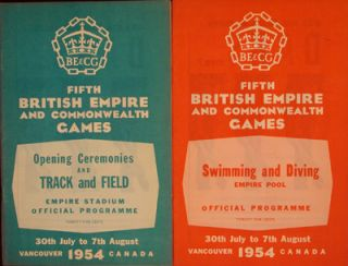 Fifth British Empire and Commonwealth Games, Official Programme (2 pamphlets). n/a