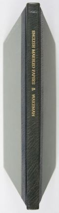 English Marbled Papers: A Documentary History. Geoffrey Wakeman