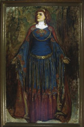 Modjeska as Lady Macbeth (oil painting). Sigismund de Ivanowski