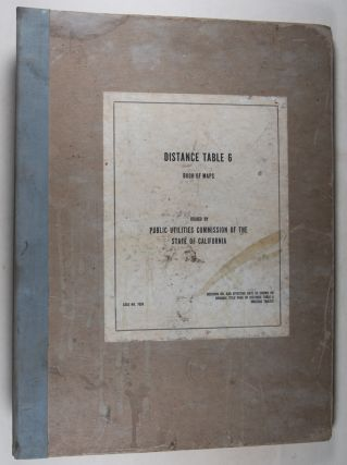 Distance Table 6: Book of Maps, Case No. 7024