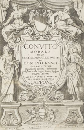 Convito Morale per Gli etici, Economici, e Politici (Two volumes in one). Don Pio Rossi.