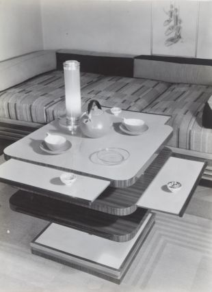 9 Original B/W Photographs by Adolf Lazi of Furniture Design by C. Adolf Rüdenauer & Moderne...