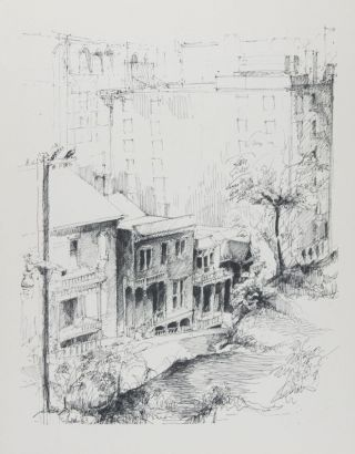 "A Selection of Six Pen and Ink Drawings from the Series ""Los Angeles Landmarks"" Originally Published by Westways Magazine. Volume One. [SIGNED]. Peter Alexander."