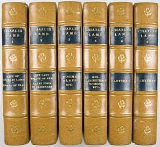 Life and Works of Charles Lamb. 12-volume set bound in 6 volumes (complete). Charles Lamb, Alfred Ainger, Introduction and Notes.