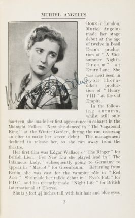 Stars of the Screen 1931 [SIGNED]