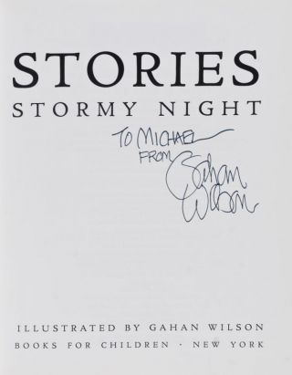 Spooky Stories for a Dark & Stormy Night [INSCRIBED AND SIGNED BY THE ILLUSTRATOR]
