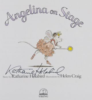 Angelina on Stage [SIGNED BY AUTHOR]