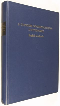 A Concise Sociopolitical Dictionary English-Amharic